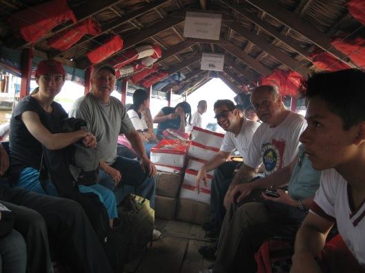 Inside boat to sta victoria