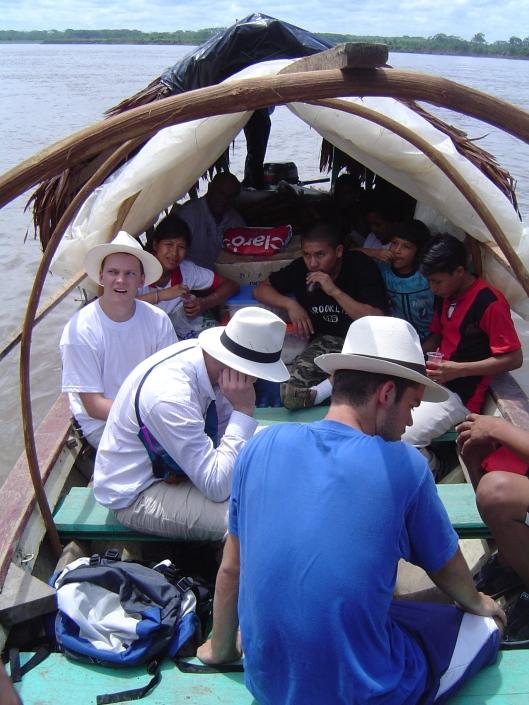 Amazon boat interior