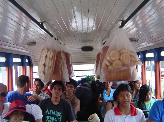 Bus ride carrying bread