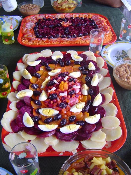 Veinte enero food presentation
