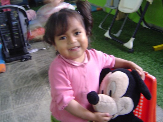 Orphan girl and mickey