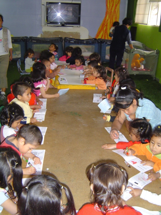 Orphanage - kids coloring
