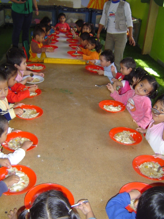 Orphanage - lunch table