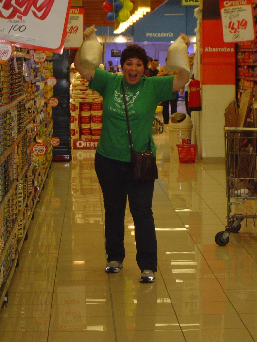 Cindy excited about grocery shopping