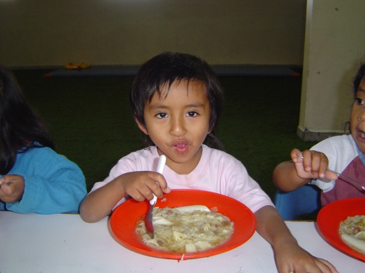 Orphanage - boy eating