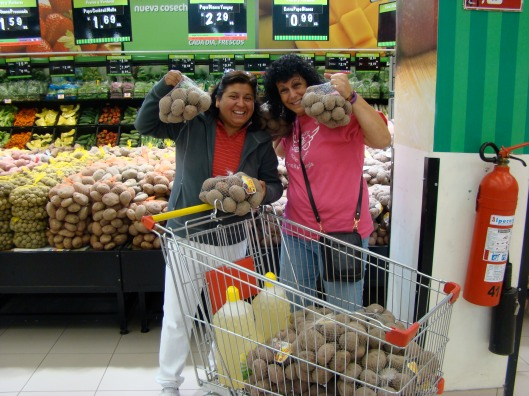 Grocery shopping - Yanett and Steph