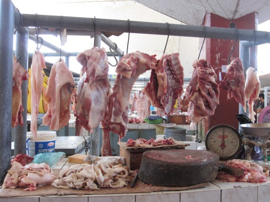 Meat at outdoor market 1