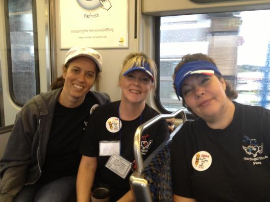 Becky,beth and bernice on dart rail